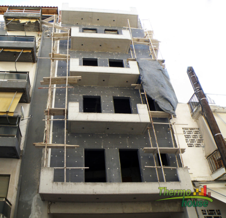Θερμοπρόσοψη 4όροφης πολυκατοικίας στην Αμφιάλη 1